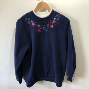 Allison Dalley Sweater with Embroidered Flowers